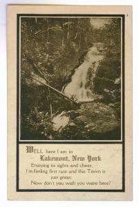 Starkey to Fort Edward, New York 1912 PPC, Lakemont Poem
