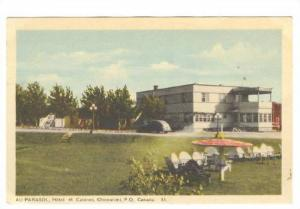 AU PARASOL, Hotel et Cabines, Chicoutimi, Province of Quebec, Canada, PU-1950