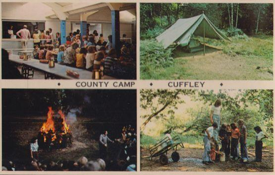 Cuffley Hertfordshire County School Camp Fire Canteen Cookery Vintage Postcard