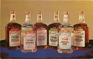 Bourbon Scotch Vodka 1950s Liquor Advertising Crystal Lake Postcard 21-6385
