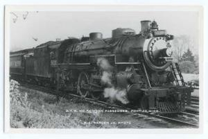 RPPC of Grand Trunk Western #5630 on Passenger Train at Pontiac Michigan, MI