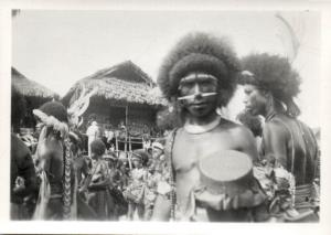 Papua New Guinea, Real Photo Native Papuas, Native Warrior (1930s) RP (05)