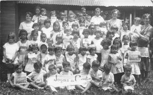 San Jose Cost Rica~School Class Posing~Joyas de Cristo1932 RPPC-Postcard