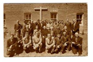 Real Photo, Men Retreat Group, Augustine's Monastery Nova Scotia, Used 1953