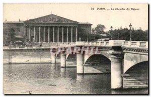 Old Postcard The Paris Chamber of Deputies