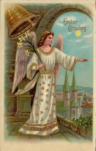 Angel Holding Flowers , Easter Greeting , 00-10s #3