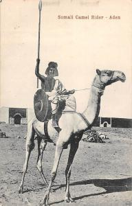Yemen, Aden, Somali Camel Rider, Spear, Shield