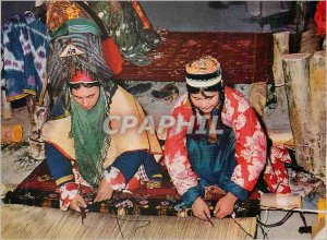 Postcard Modern Afghanistan Carpet Weavers of Northern Provinces Folklore