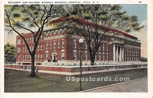 Soldiers' & Sailors' Masonic Memorial Hospital - Utica, New York