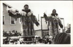 Nome AK Eskimo Women in Furs - Ceremony? Real Photo Postcard