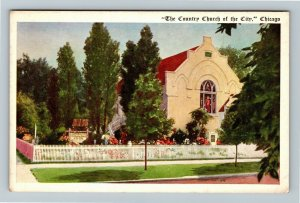 Chicago IL-Illinois, The Country Church Of The City, Vintage Postcard
