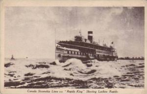 Canada Steamship Lines S. S. Rapids King Shooting Lachine Rapids, Canada, 1...