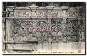 Dieppe Old Postcard Church of Saint Joseph the treasure