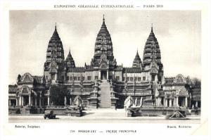 21731   Paris  1931  Exposition Coloniale Int. -Ingkor-Vat  Facade Principale