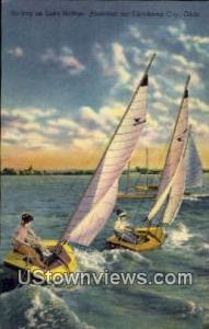 Sailing On Lake Heffner Oklahoma City OK Unused