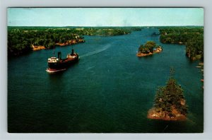 ON- Ontario, Main Channel of St Lawrence Seaway, Chrome c1963Postcard