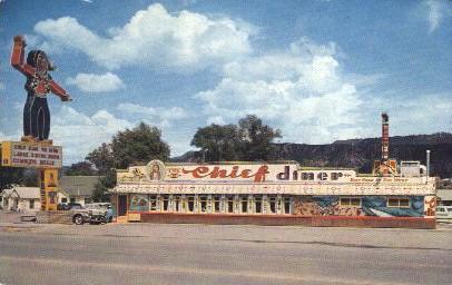 The Chief Dinner, Durango, Colorado, USA Restaurant & Diner Postcard Postcard...