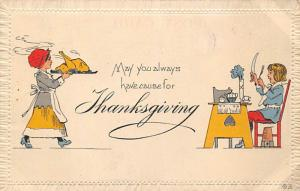 Thanksgiving Day Postcard 1913