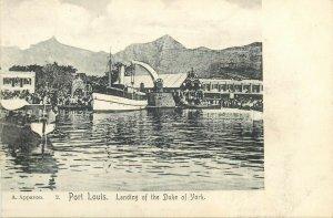MAURITIUS PORT-LOUIS Landing of the Duke of York, animé