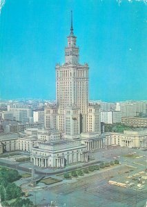 Poland Postcard Warsaw Palace of Culture and Science