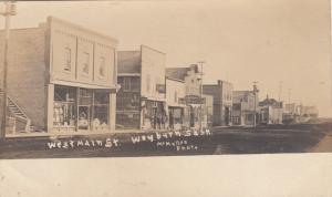 RP: WEYBURN , Sask., Canada , 1900-10s ; West Main Streets