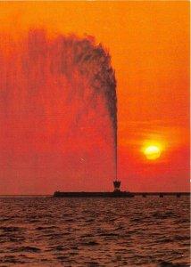 us8122 sunset over fountain jeddah saudi arabia Djedda