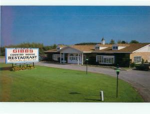 Gibbs Country House Restaurant Ludington Scottvile Michigan   Postcard # 8885