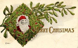 Greeting - Christmas. Santa Claus      (crease in card)