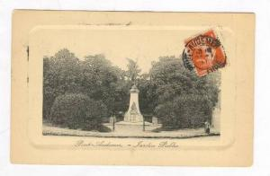 Public Garden & Statue / Jardin Public,Pont Audemer,France 1911 PU