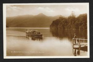 Derwentwater & Boat Cumbria England RPPC Unused c1920s