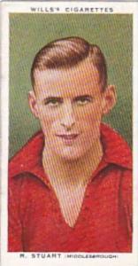 Wills Cigarette Card Association Footballers No 42 R Stuart Middlesbrough
