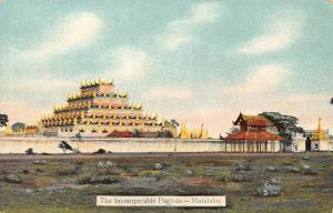 Burma Myanmar The Incomparable Pagoda- Mandalay Postcard