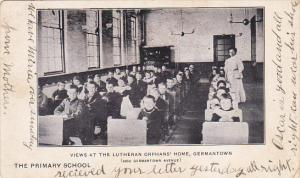 Pennsylvania Germantown The Primary School At Lutheran Orphans' Home 1910