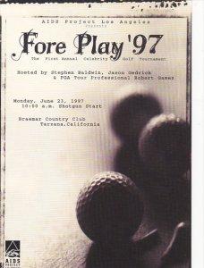 Advertising Fore Play '97 Golf Tournament Braemar Country Club Tarzana C...