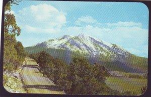 P1442  1959 used postcard mt. sopris alt 12,823 ft colorado near carbondale