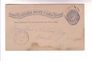 Canada Victoria 1 Cent Blue, 1890 CDS Cork Cancel, Clarksburg Ontario