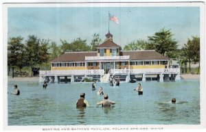 Poland Springs, Maine, Boating And Bathing Pavilion