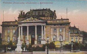 Germany Wiesbaden Nassauisches Landesteater und Schillerdenkmal