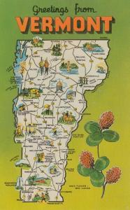 Map of VERMONT , 50-60s