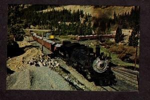 CO Rio Grande Railroad Train Loco 481 Monarch Colorado RR Postcard Narrow Gauge