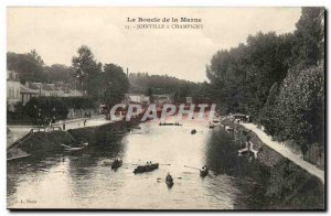 The loop of the Marne - Champigny has Joinvile - Old Postcard