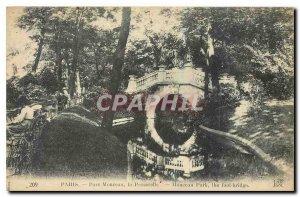 Old Postcard Paris Parc Monceau Gateway