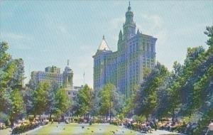 New York City City Hall Square Showing Municipal Building