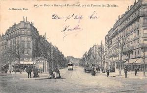 France Paris Boulevard Port-Royal, Pris de l'Avenue des Gobelins Tram Promenade