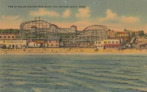 OLD ORCHARD BEACH, Maine, 1930-40s ; Roller Coaster