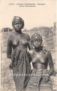 Jeunes Filles Saussais African Nude Postcard Afrique Occidentale Senegal Unused