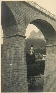 Cortina d`Ampezzo da Valle Bigontina I. Tofana Belluno Real Photo Postcard Italy