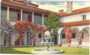 Patio of Crane House, Jekyll Island State Park, Georgia, GA, Linen