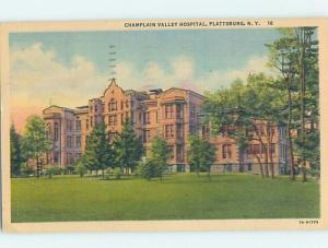 Linen HOSPITAL SCENE Plattsburgh New York NY W3131