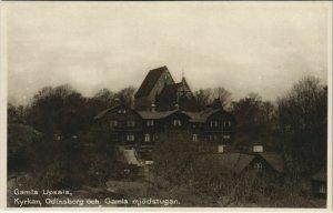 CPA AK UPPSALA Gamla Uppsala - Kyrkan - Odinsborg SWEDEN (1140144)